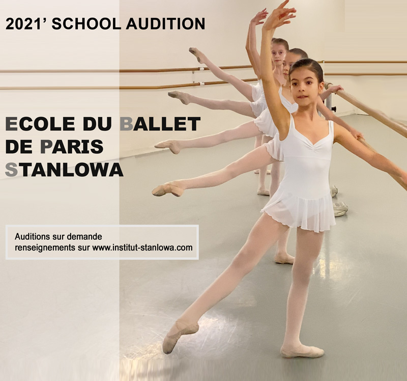 AUDITION ECOLE DU BALLET DE PARIS  2021-2022
